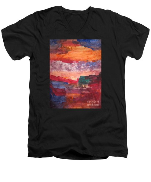 untitled 109 Original Painting Men's V-Neck T-Shirt