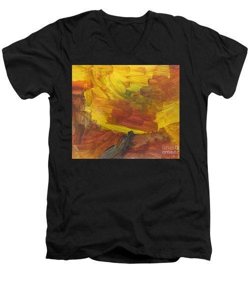 Untitled 117 Original Painting Men's V-Neck T-Shirt