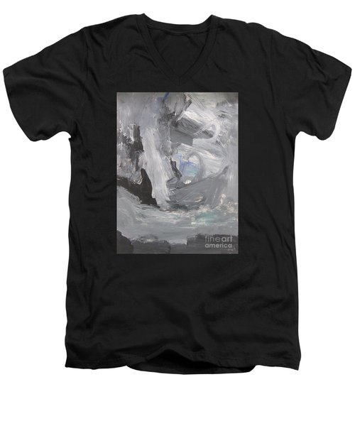 Untitled 124 Original Painting Men's V-Neck T-Shirt