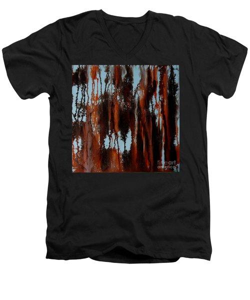 Sunset Of Duars Men's V-Neck T-Shirt