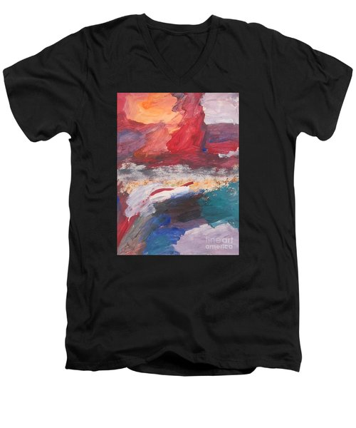 Untitled 98 Original Painting Men's V-Neck T-Shirt