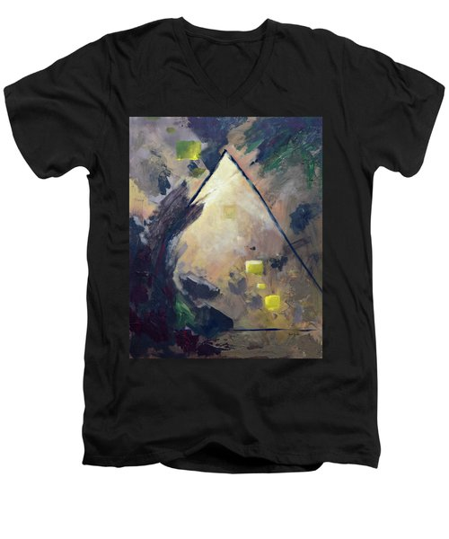 Untitled Abstract 730-17 Men's V-Neck T-Shirt