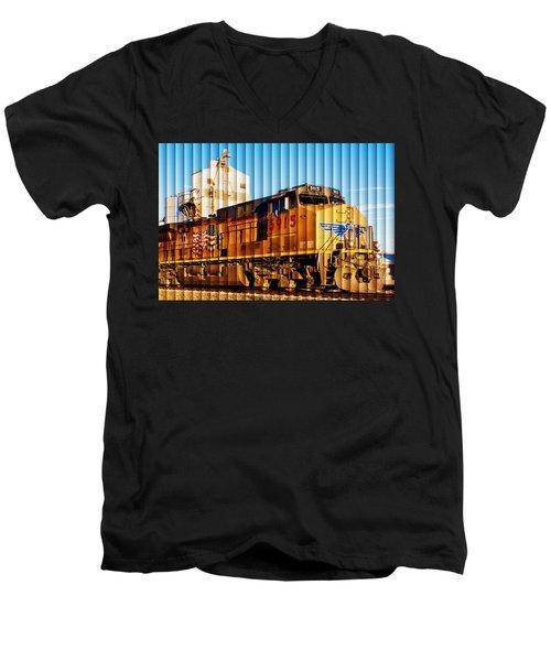 Up 5915 At Track Speed Men's V-Neck T-Shirt by Bill Kesler