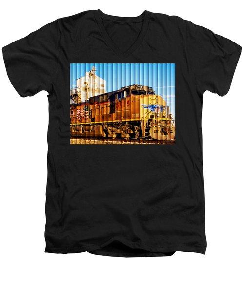 Up 5915 At Track Speed Men's V-Neck T-Shirt