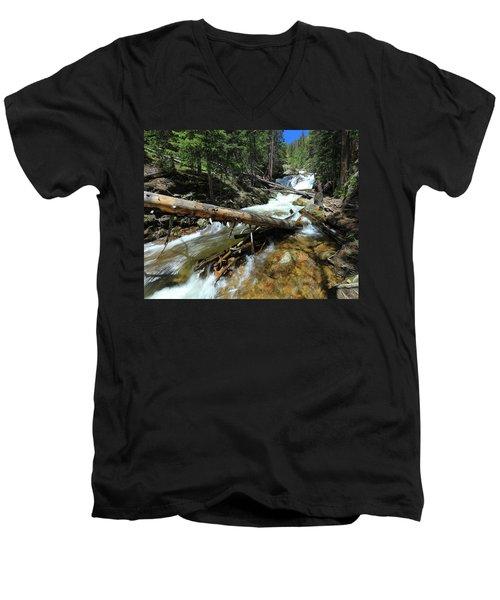 Up A Log Men's V-Neck T-Shirt