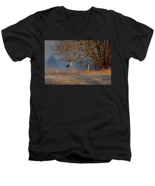 Up And Over Men's V-Neck T-Shirt