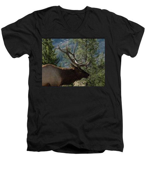 Up Close Men's V-Neck T-Shirt