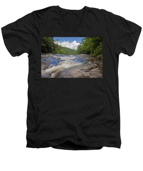 Upper Creek Waterfalls Men's V-Neck T-Shirt