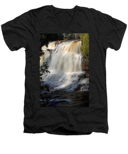Upper Falls Gooseberry River 2 Men's V-Neck T-Shirt