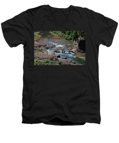Men's V-Neck T-Shirt featuring the photograph Upper Salt by Gary Kaylor