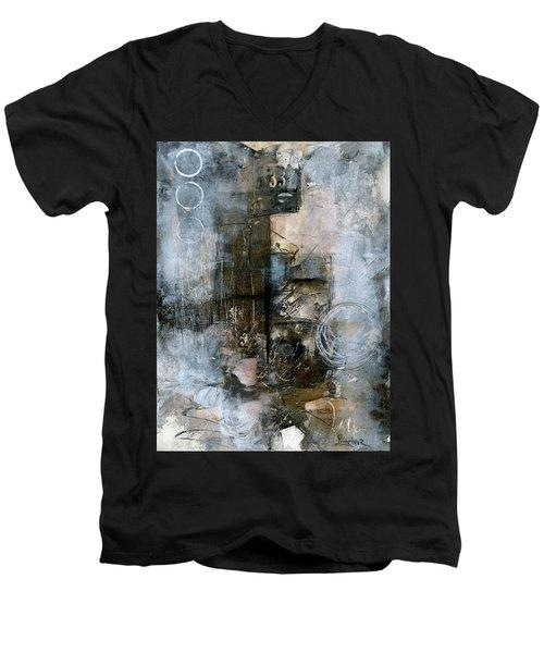Urban Abstract Cool Tones Men's V-Neck T-Shirt
