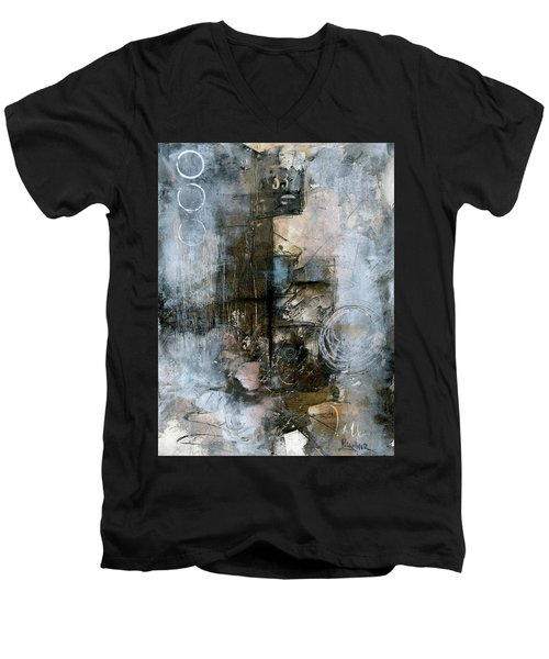 Urban Abstract Cool Tones Men's V-Neck T-Shirt