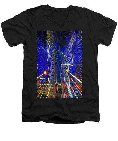 Urban Abstract Men's V-Neck T-Shirt