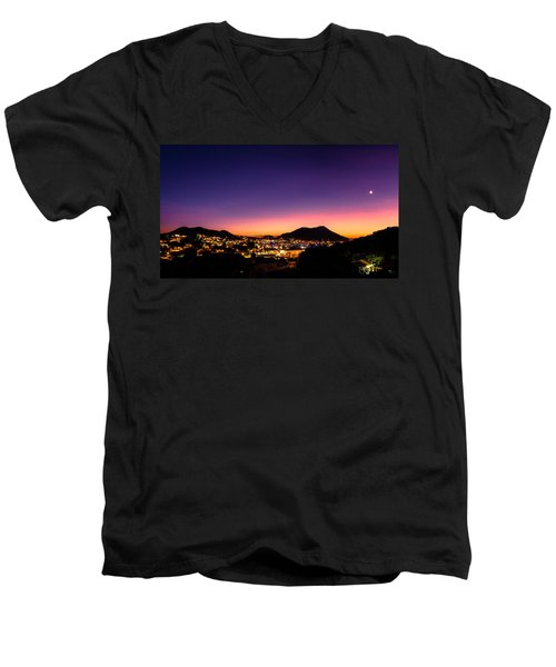 Urban Nights Men's V-Neck T-Shirt