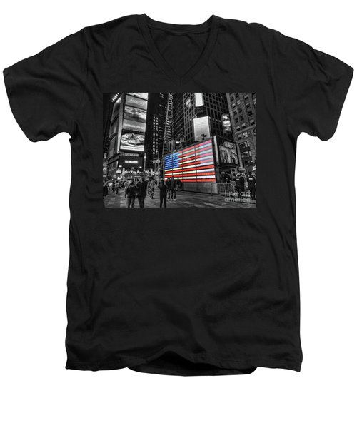 U.s. Armed Forces Times Square Recruiting Station Men's V-Neck T-Shirt