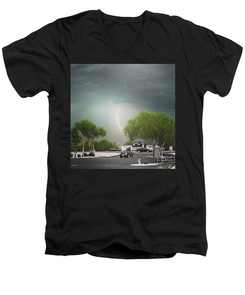 Lightning  Men's V-Neck T-Shirt by Speedy Birdman