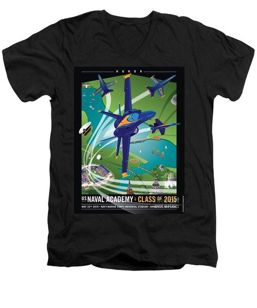 Usna Class Of 2015 12 X 16 Men's V-Neck T-Shirt