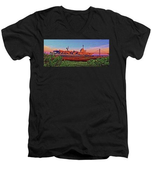 Uss York Town Men's V-Neck T-Shirt