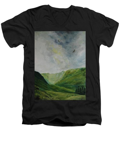 Valley Of Eagles Men's V-Neck T-Shirt