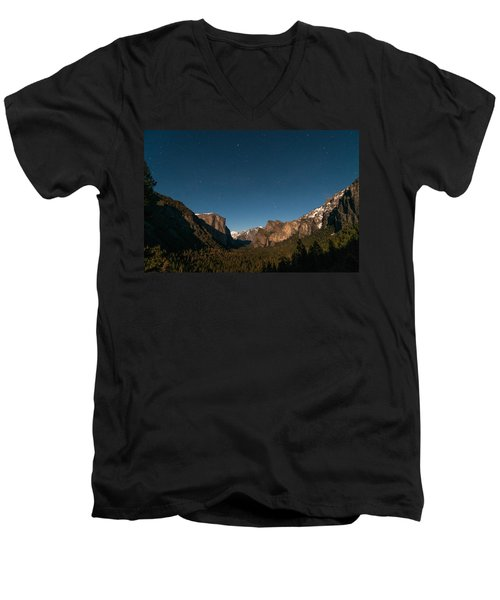 Valley View By Moon Light Men's V-Neck T-Shirt
