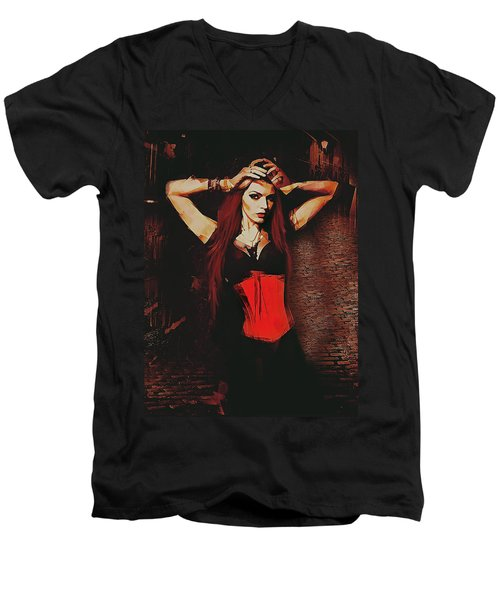 Vampire Compelled  Men's V-Neck T-Shirt