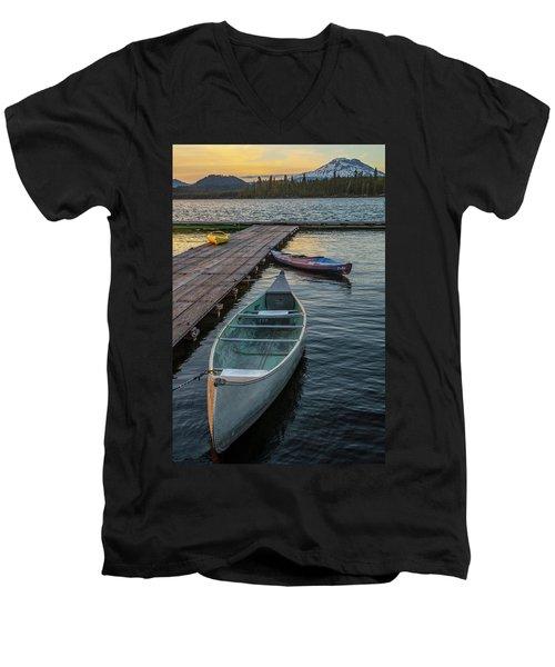 Variation On A Theme At Lava Lake Men's V-Neck T-Shirt