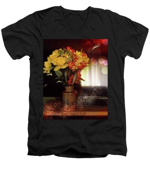 Vase Of Flowers Men's V-Neck T-Shirt