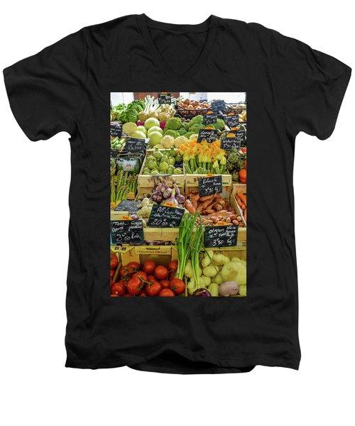 Veg At Marche Provencal Men's V-Neck T-Shirt