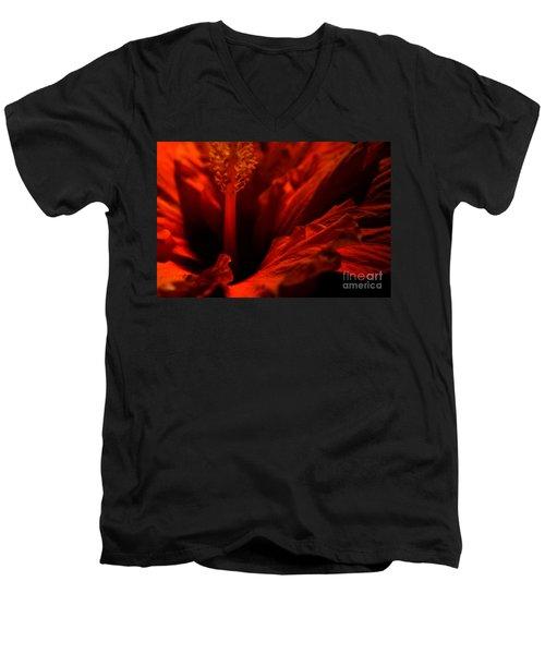 Velvet Seduction Men's V-Neck T-Shirt by Sheila Ping