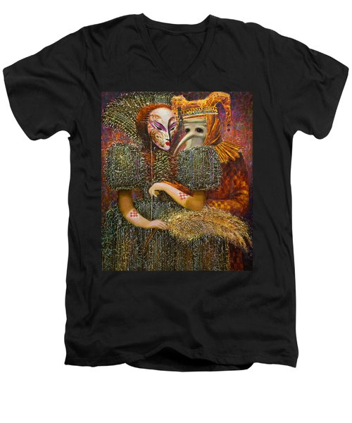 Venetian Masks Men's V-Neck T-Shirt