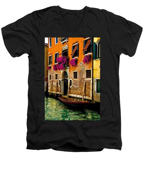 Venice Facade Men's V-Neck T-Shirt by Harry Spitz