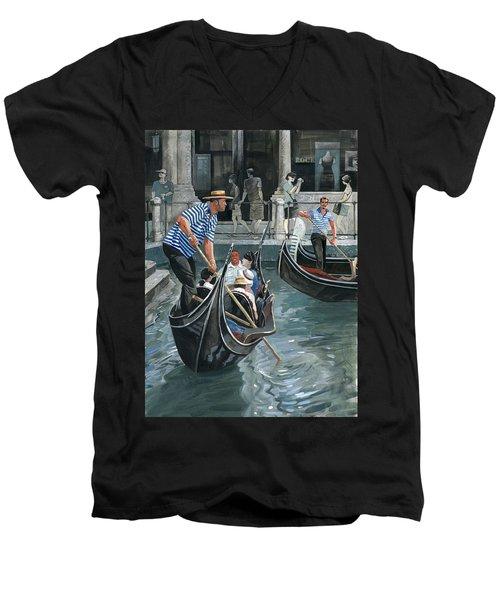 Venice. Il Bacino Orseolo Men's V-Neck T-Shirt