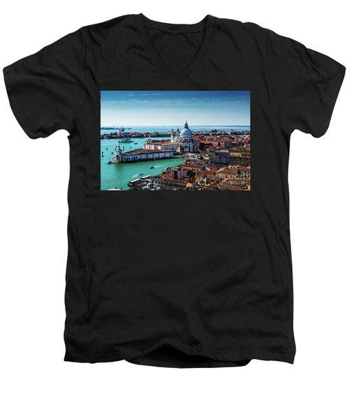 Venice Men's V-Neck T-Shirt by M G Whittingham