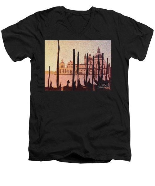 Venice Morning Men's V-Neck T-Shirt by Ryan Fox
