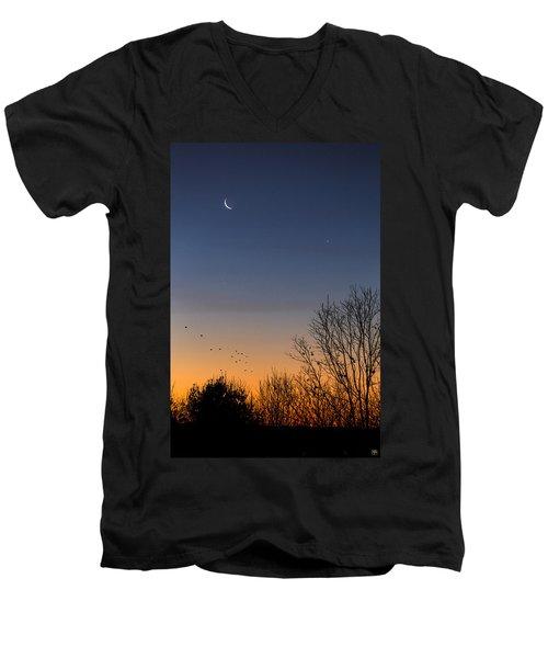 Venus, Mercury And The Moon Men's V-Neck T-Shirt