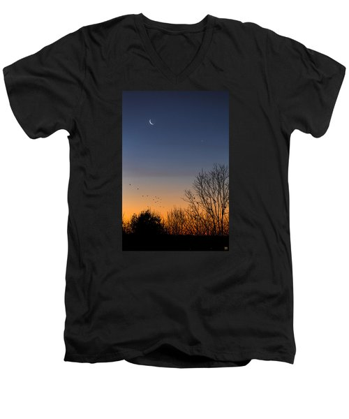 Venus, Mercury And The Moon Men's V-Neck T-Shirt