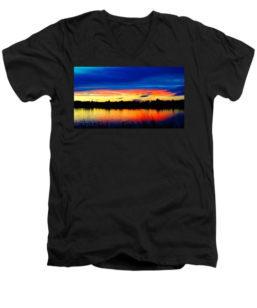 Vermillion Sunset Men's V-Neck T-Shirt
