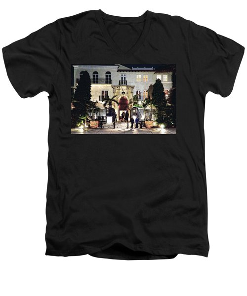 Versace Mansion South Beach Men's V-Neck T-Shirt