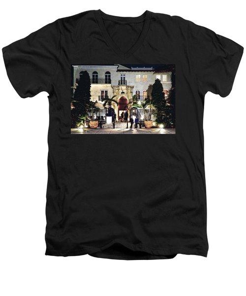 Versace Mansion South Beach Men's V-Neck T-Shirt