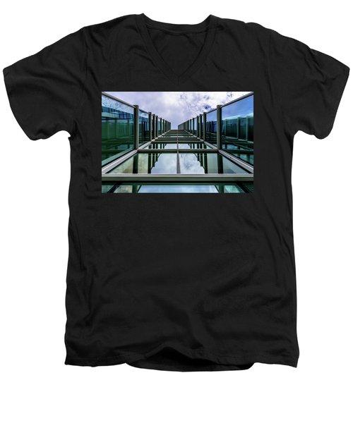Men's V-Neck T-Shirt featuring the photograph Vertical Horizon by Randy Scherkenbach