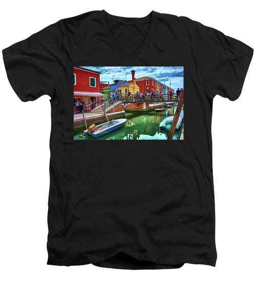 Vibrant Dreams Floating In The Air Men's V-Neck T-Shirt