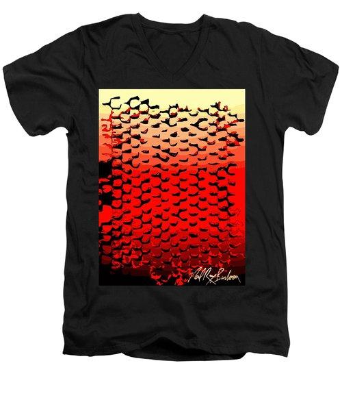 Vibrational Bricks Men's V-Neck T-Shirt
