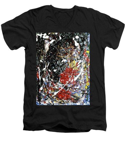 Vicious Circle Men's V-Neck T-Shirt by Elf Evans
