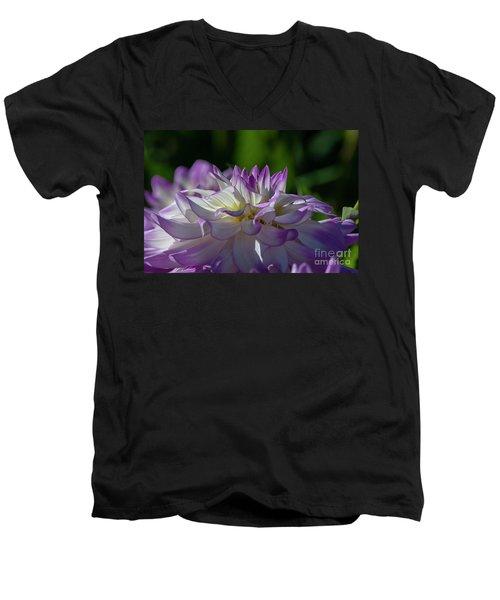 Victoria Ann Dahlia 2 Men's V-Neck T-Shirt
