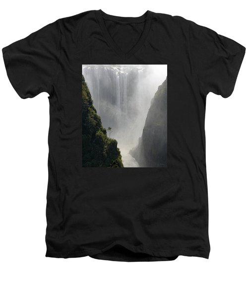 Victoria Falls No. 2 Men's V-Neck T-Shirt by Joe Bonita