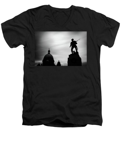 Victoria Silhouettes Men's V-Neck T-Shirt