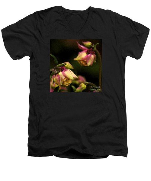 Victorian Romance Men's V-Neck T-Shirt by Linda Shafer