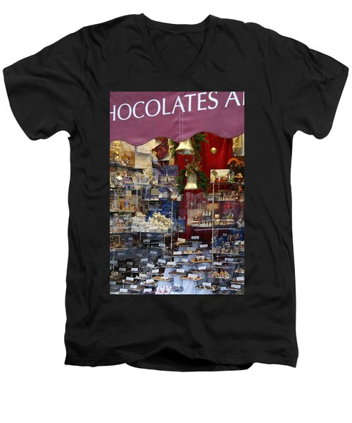 Vienna Chocolatier Shop Men's V-Neck T-Shirt