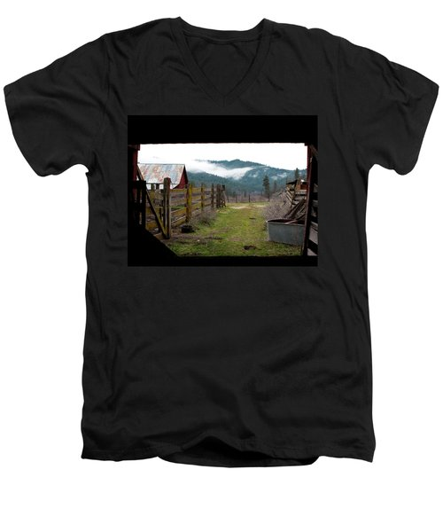 View From A Barn Men's V-Neck T-Shirt