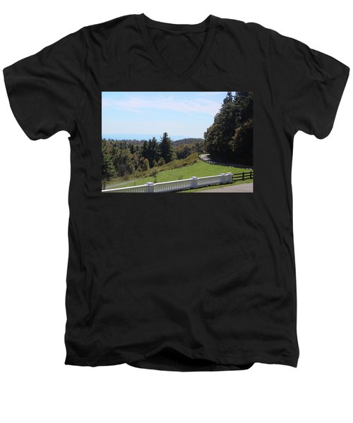 View From Moses Cone 2014a Men's V-Neck T-Shirt